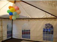 decor for christmas party marquee hire