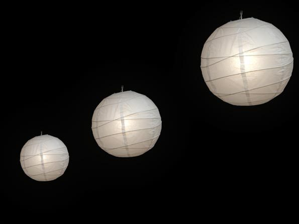 Rice Paper Lantern Lighting Hire