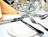 party hire tableware, catering for corporate event